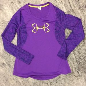 Purple Under Armour fitted shirt